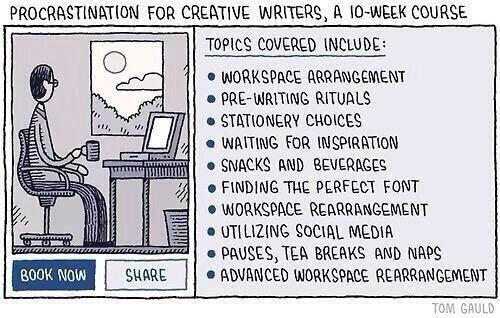 Procrastination for Creative Writers - Tom Gauld